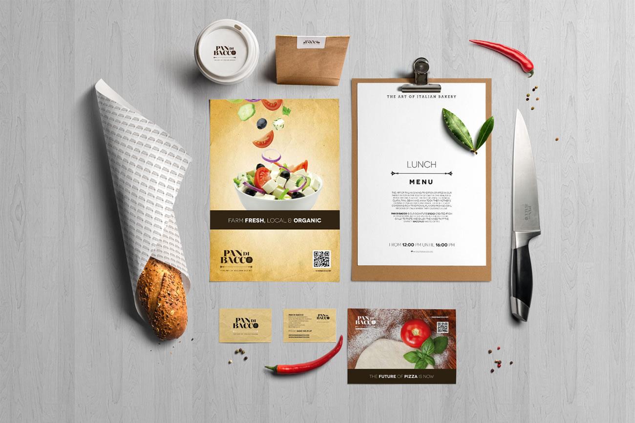 Pan di bacco labe laboratorio belloni for Food bar mockup